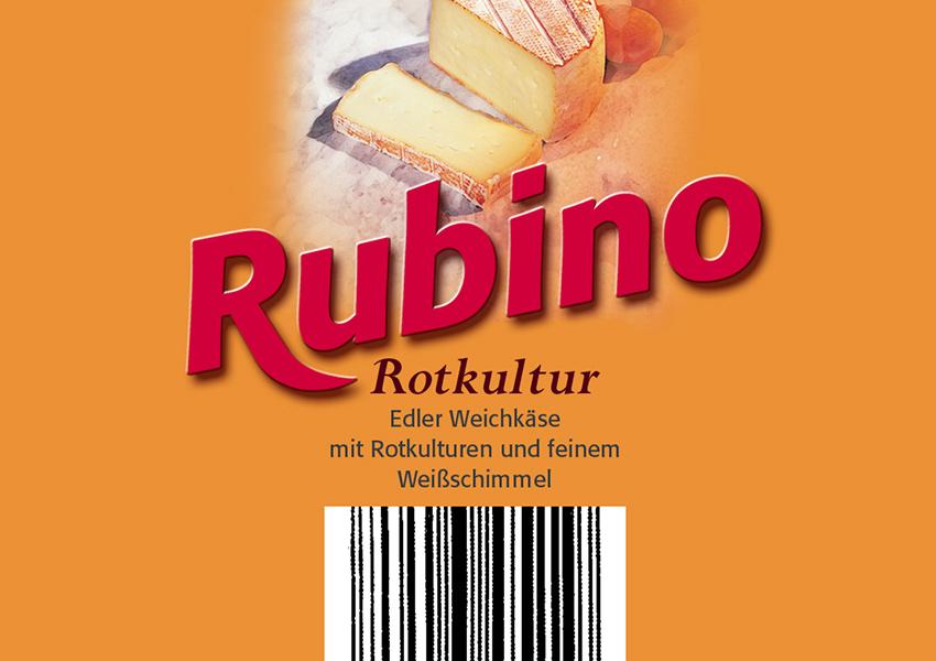 Weichkäse Rotkultur,Verpackungsentwurf