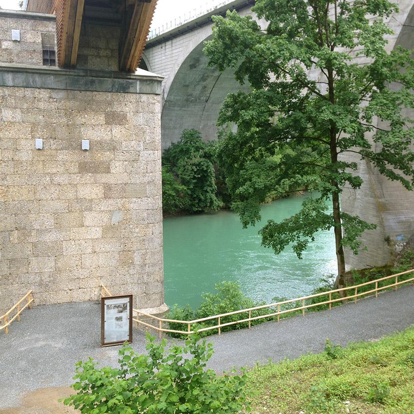 Standort Schautafel, König-Ludwig-Brücke