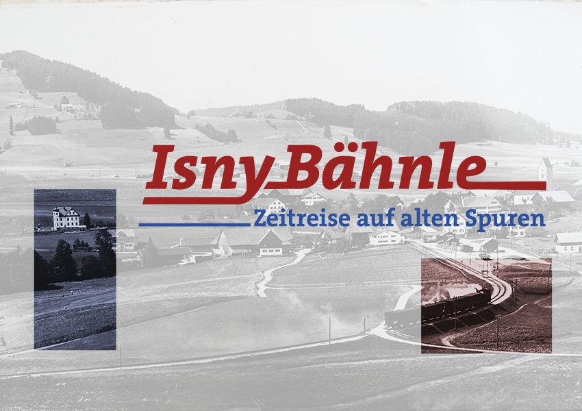 Logogestaltung und Informationsdesign für den Themenweg Isnybaehnle, eine Zeitreise auf alten Spuren im Allgäu